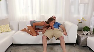 slutty Stepmom is humped by sons-in-law Big Cock