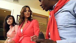 Stepmom Walks in on Interracial Teens