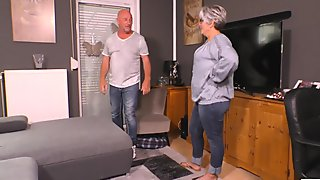 AmateurEuro - Rough SEX on the Couch with Busty Mature German Wife