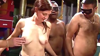 Middle aged redhead having groupsex