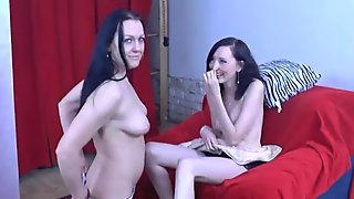Nasty MILF teases cute teen at the CASTING