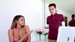 Milf handjob young cock Catching my Step-Mom