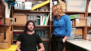 Hunky burglar is obliged to fuck a hot milf officer